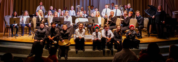 Concert band at our Christmas Concert