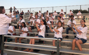Collin County Homeschool Fine Arts Pep Band at CHANT football game